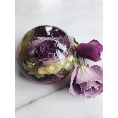 Wedding Paperweight Magentaflowers
