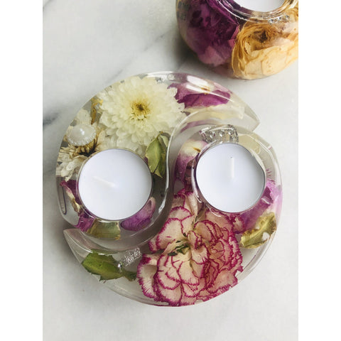 Tealight Candle Holders Magentaflowers 13CM Ying Yang