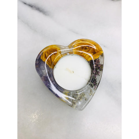 Tealight Candle Holders Magentaflowers 7CM Heart