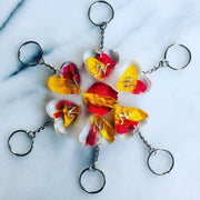 Wedding Bouquet Heart Magentaflowers 3CM Keyring