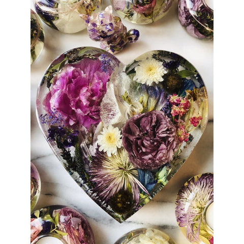 Wedding Bouquet Heart Magentaflowers
