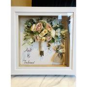 Wedding Bouquet Shadow Box Magentaflowers Deep Shadow Box (38CMx38CMx8CM)