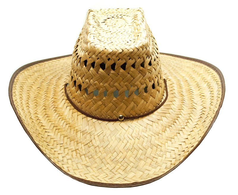 Vented Wide Brim Straw Hat - Dallas General Wholesale