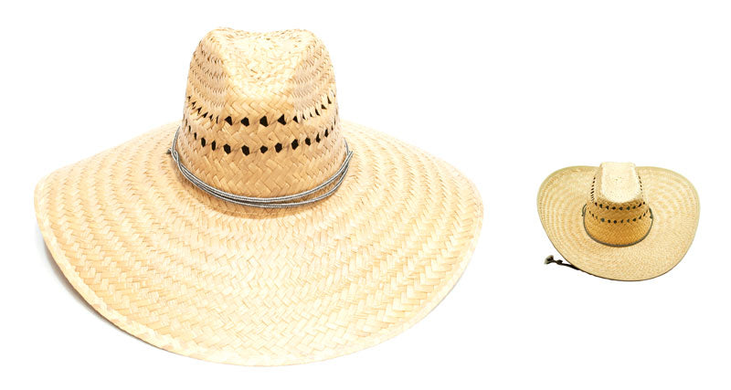 Vented Wide Brim Mexican Style Straw Hat - Dallas General Wholesale