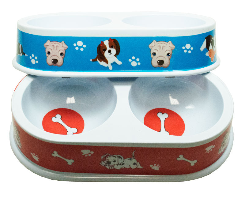 Double Dish Dog Round Bowls Wholesale - Dallas General Wholesale
