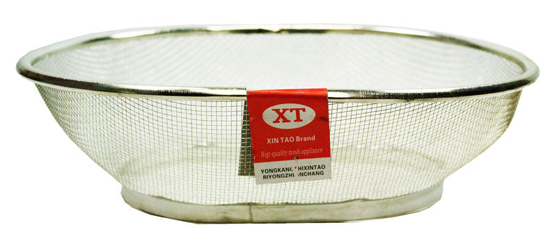 "10"" Oval Shaped Basket Strainer - Dallas General Wholesale"