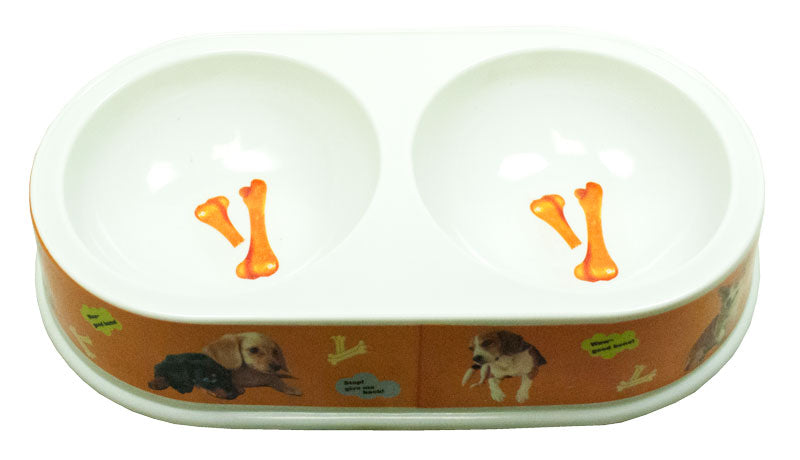 "11"" Double Dish Dog Bowl - Dallas General Wholesale"