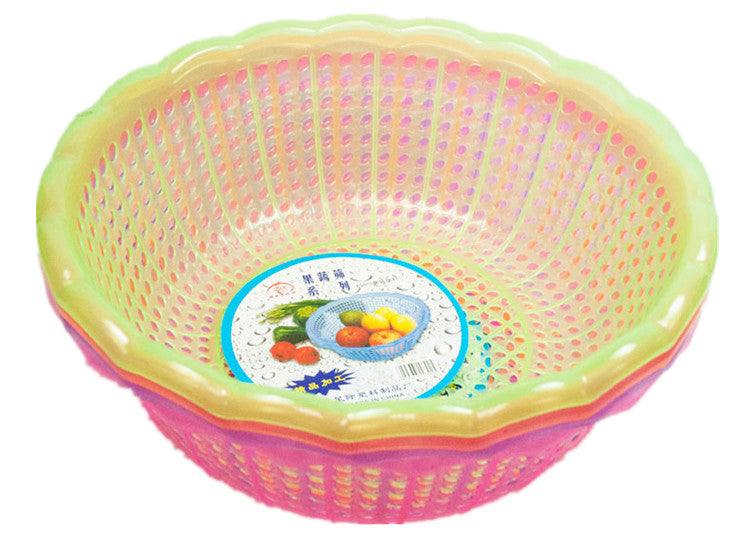 Round Plastic Rinse Basket - Dallas General Wholesale