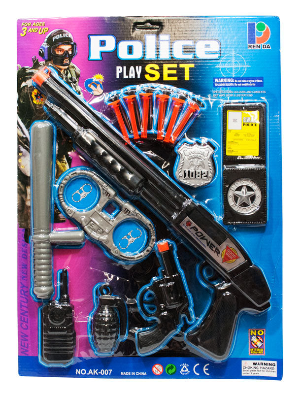 Pretend Toy Police Play Set Wholesale - Dallas General Wholesale