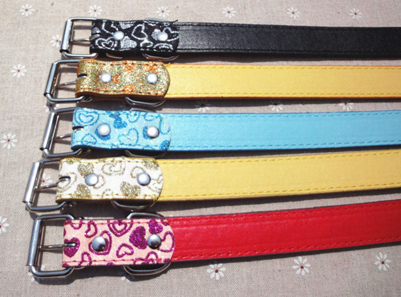 "15"" Leather Pet Collar - Dallas General Wholesale"