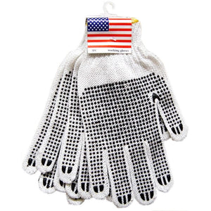 String Knit Work Gloves-PVC - Dallas General Wholesale