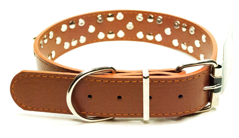 Large Double Studded Spike Collar - Dallas General Wholesale