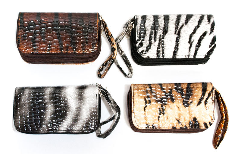 3-in-1 Key Chain Wallets with Animal Prints - Dallas General Wholesale