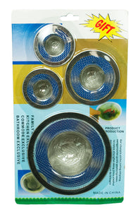 4 PC Assorted Size Mesh Sink Strainers - Dallas General Wholesale