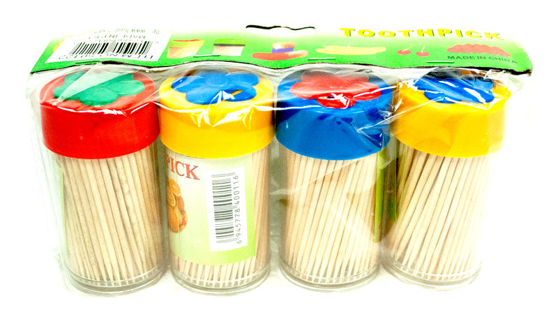 4 Pack Toothpicks - Dallas General Wholesale