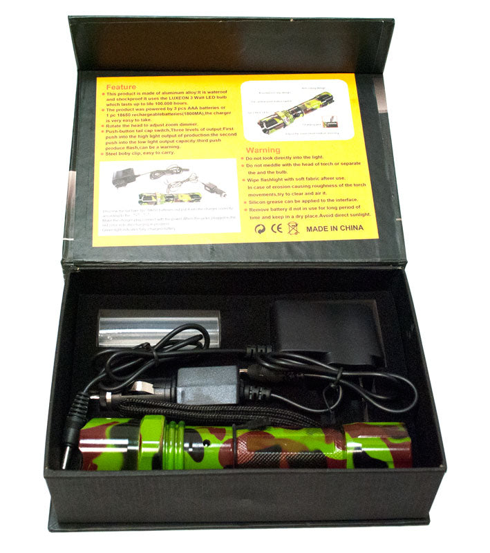 5000 Lumen Zoomable Flashlight - Dallas General Wholesale