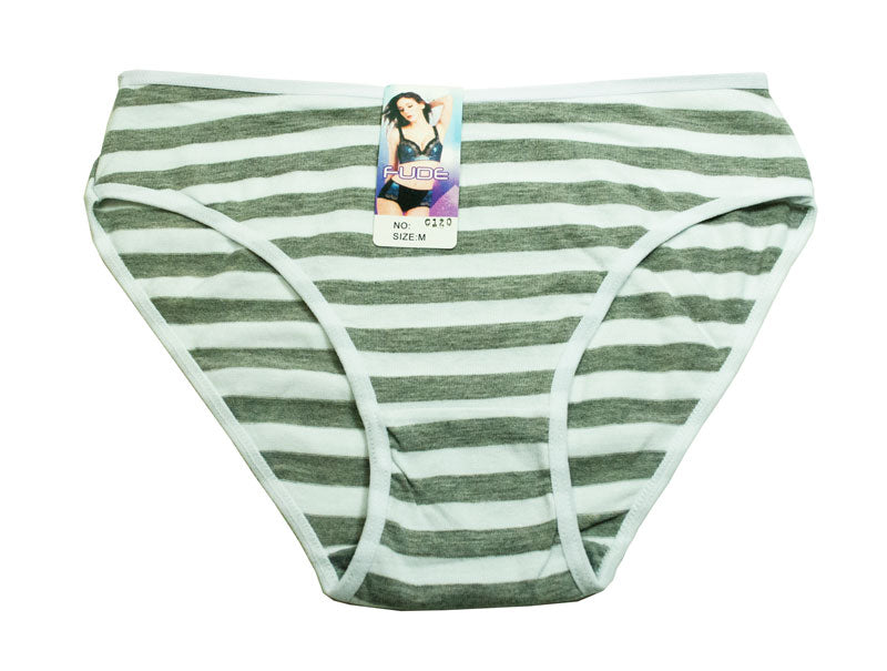 Women's Cotton Strip Underwear - Dallas General Wholesale
