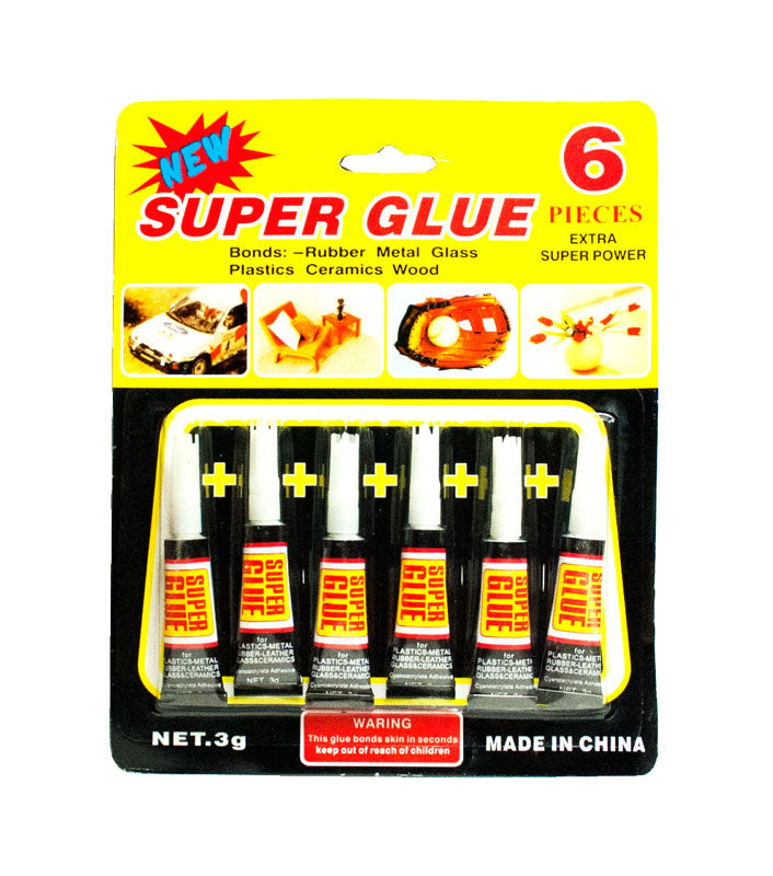 6 PC Super Glue Set - Dallas General Wholesale