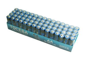 60 PC Carbon AA Battery - Dallas General Wholesale