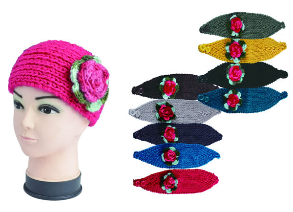 AB298 Flower Headbands - Dallas General Wholesale