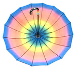 Rainbow Colored Adults Automatic Umbrellas - Dallas General Wholesale