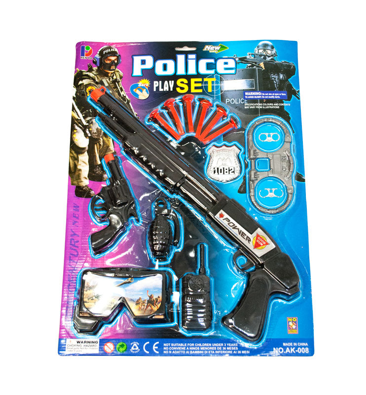 Toy AK008 Police Play Sets Wholesale - Dallas General Wholesale