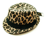 Leopard Print Fedora Hats - Dallas General Wholesale