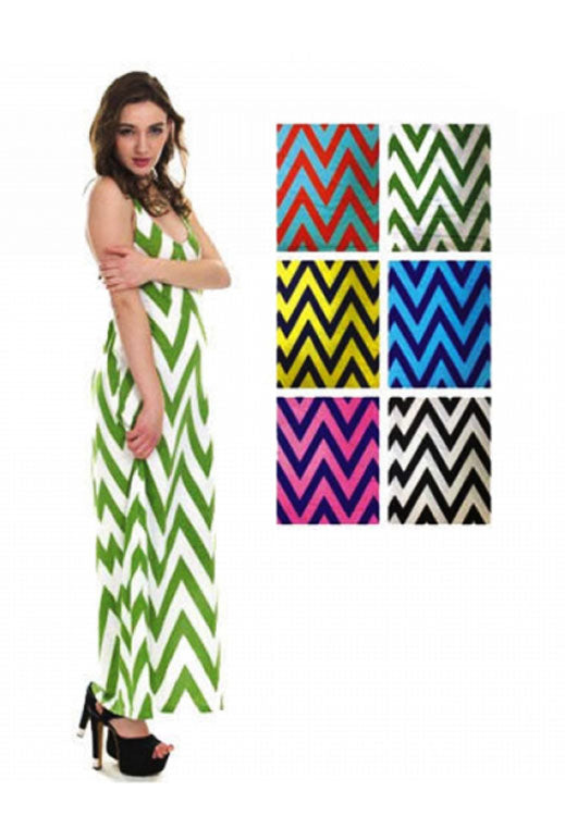 Chevron Print Maxi Dresses Wholesale - Dallas General Wholesale