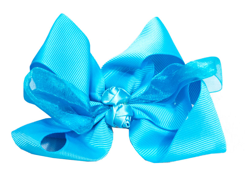 Flower Lace Ribbon Hair Bows - Dallas General Wholesale