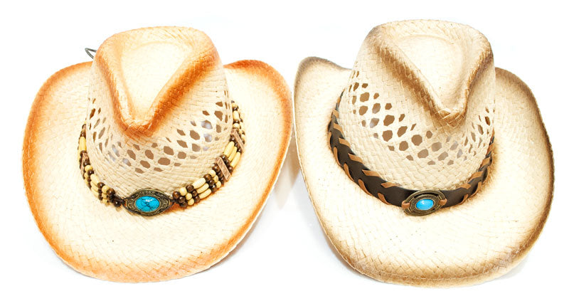 Assorted design Unisex Straw Cowboy Hats - Dallas General Wholesale