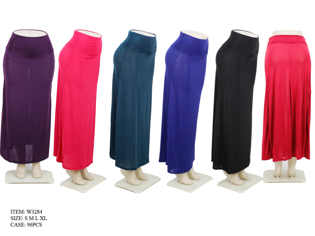 Solid Color Long Skirts Wholesale - Dallas General Wholesale