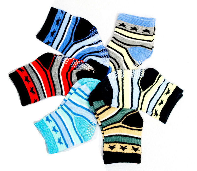 Cute Baby Boy Star Socks Size 0-2 - Dallas General Wholesale