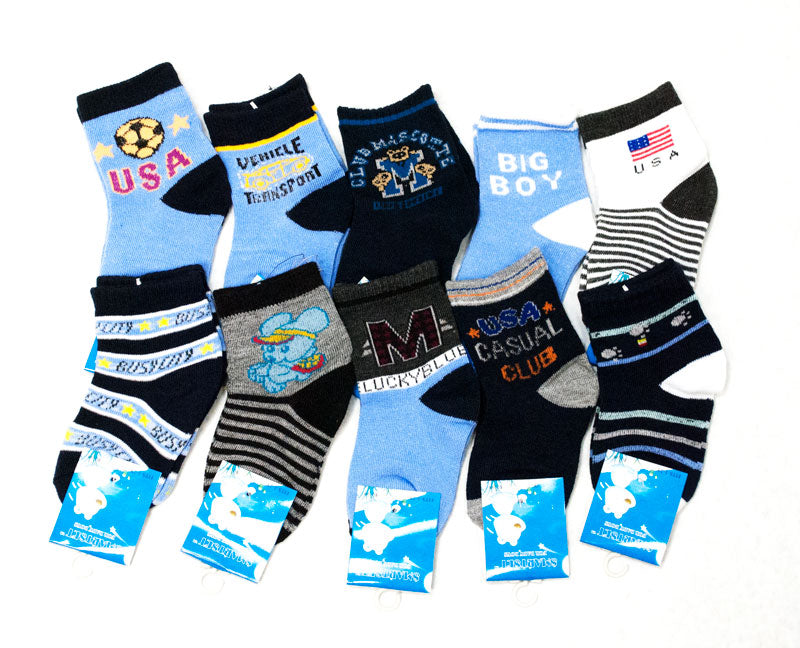 Boys Crew Socks - Dallas General Wholesale