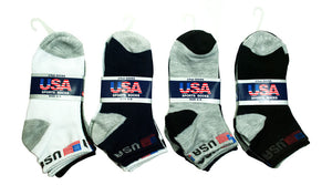 Boy's USA Ankle Socks Wholesale - Dallas General Wholesale