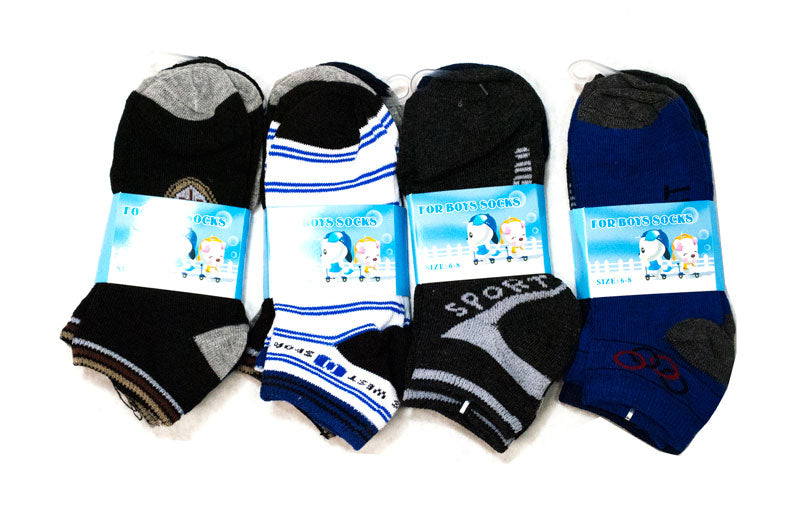 Boys Ankle Cotton Socks - Dallas General Wholesale
