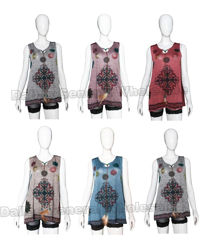 Girls Western Sleeveless Tops Wholesale - Dallas General Wholesale