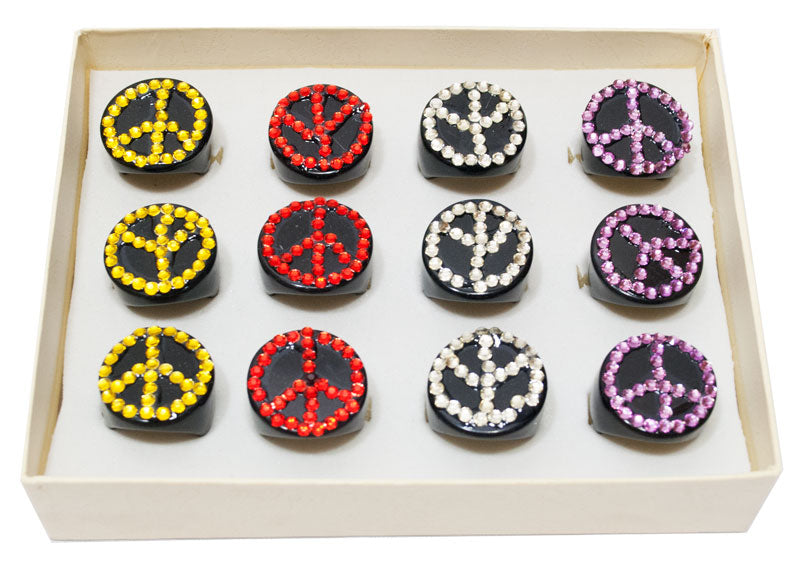 Peace Sign Studded Rings Wholesale - Dallas General Wholesale