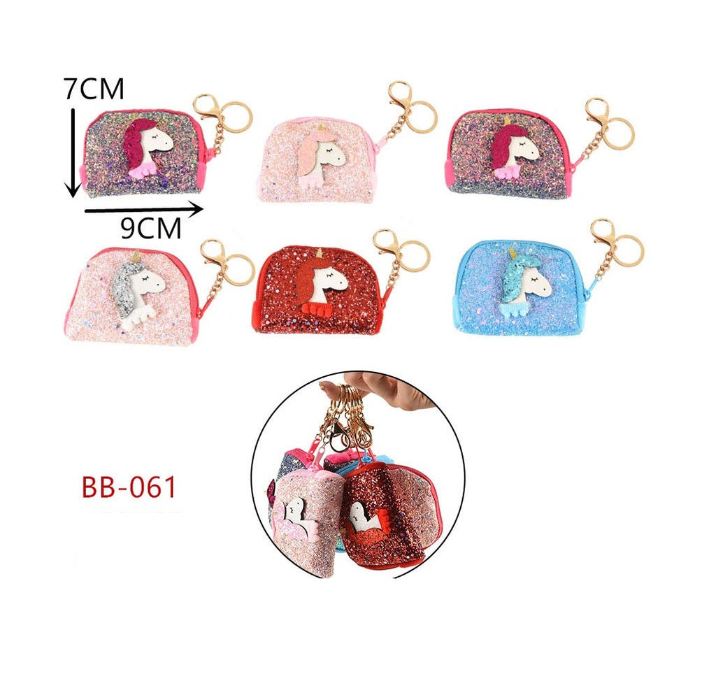 Glitter Unicorn Coin Bags Wholesale - Dallas General Wholesale