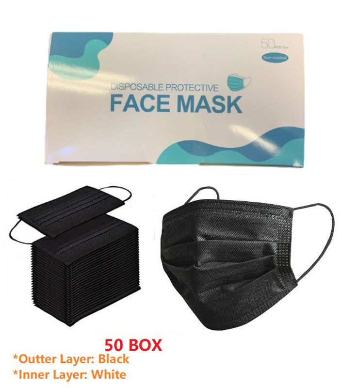 Adults Black Disposable Non Medical Masks Wholesale