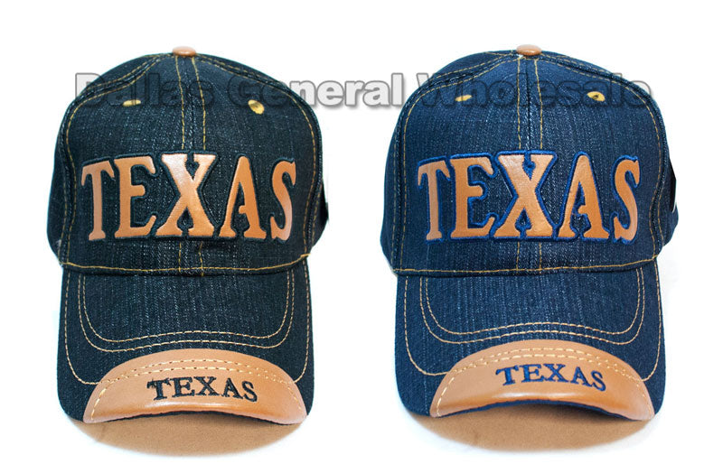 Adults Casual Texas Denim Caps Wholesale - Dallas General Wholesale
