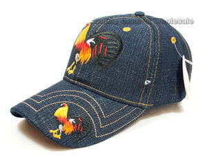 """Cock"" Adults Denim Casual Caps Wholesale - Dallas General Wholesale"
