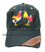 """Cock Fight"" Denim Casual Caps Wholesale - Dallas General Wholesale"