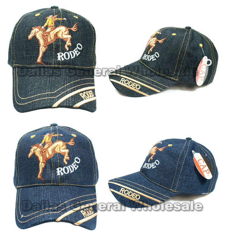 """Cowboy Rodeo""Casual Denim Caps Wholesale - Dallas General Wholesale"