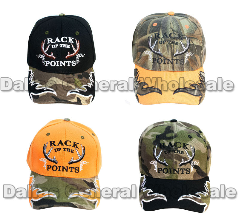 """RACK UP THE POINTS"" Casual Baseball Caps - Dallas General Wholesale"