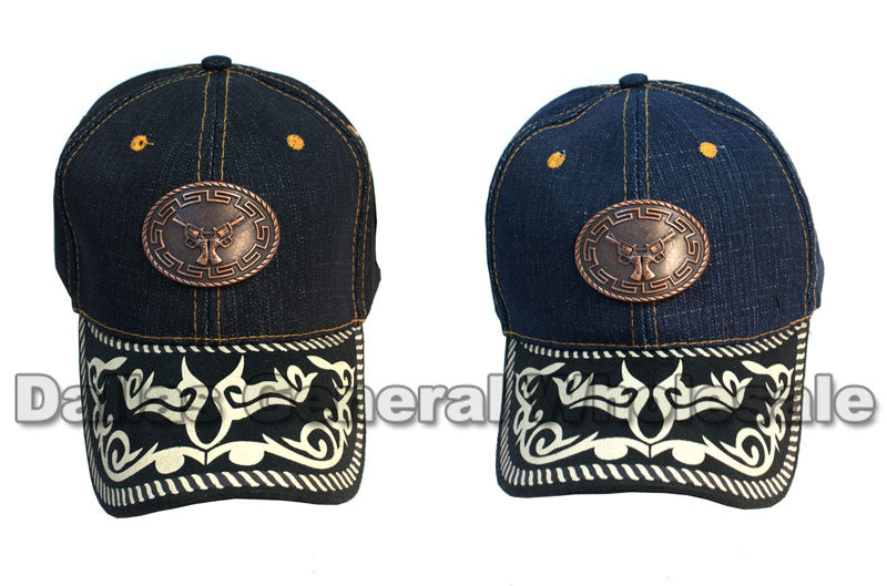 Double Revolver Denim Casual Caps Wholesale - Dallas General Wholesale