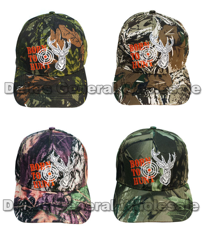 """Born to Hunt"" Deer Camouflage Casual Caps Wholesale - Dallas General Wholesale"