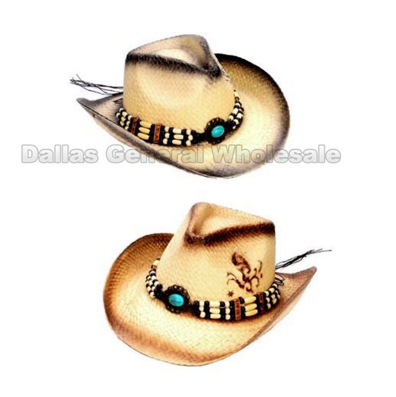 Adults Summer Straw Cowboy Hats Wholesale - Dallas General Wholesale