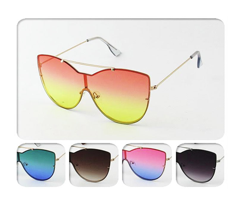 Over Size Mirror Lenses Sunglasses Wholesale - Dallas General Wholesale