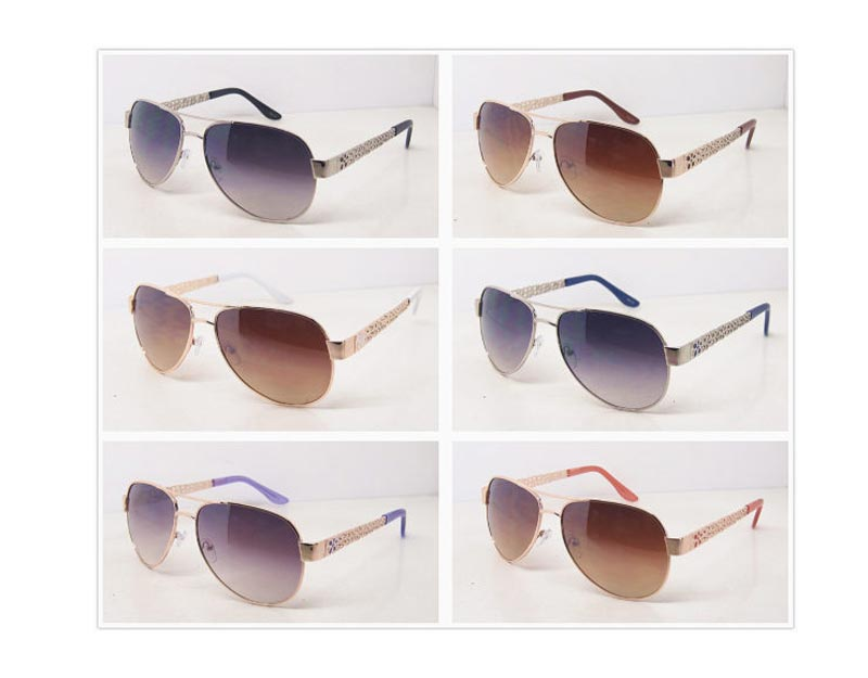 Women Aviator Metal Frame Sun Shades Wholesale