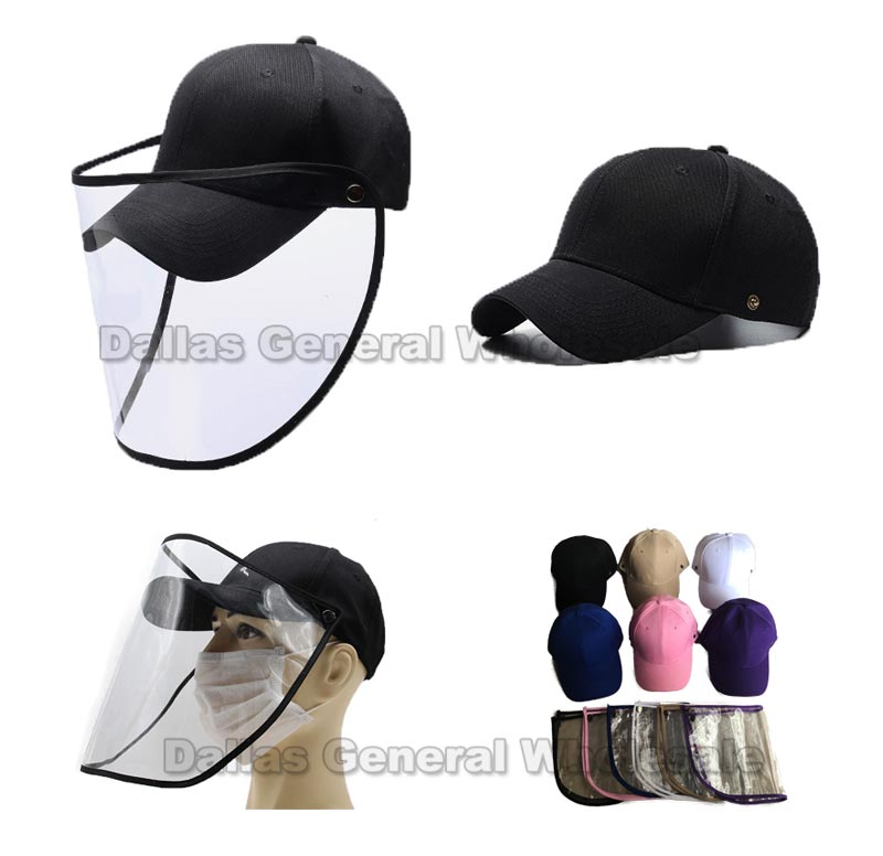 Adults Casual Caps with Face Shield Wholesale